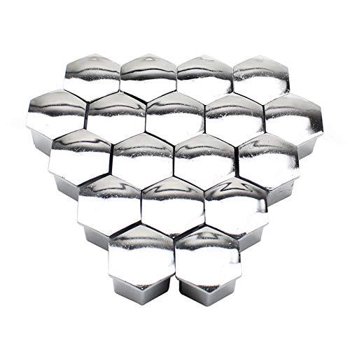 AutOcean Tapa de Tuerca de Rueda 20 Piezas Tuerca de Rueda Cubierta de llanta decoración de Tapa de Tornillo de neumático, para Peugeot 207/301/307/308/408/508/3008 para Citroen C4l / C5 / C2