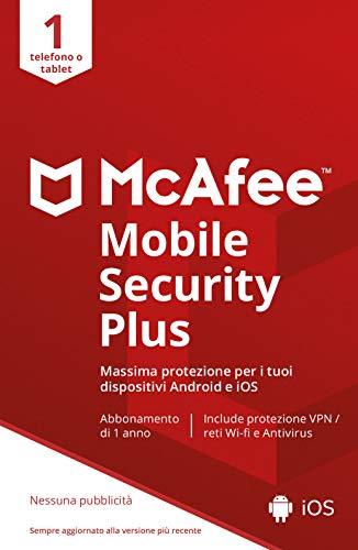 McAfee Mobile Security With VPN 2021, 1 Dispositivo, 1 Anno, Mobile, Codice d Attivazione via Email