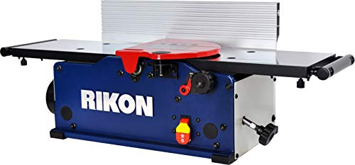 "RIKON 20-800H | 8"" Benchtop Jointer with a 6-Row Helical-Style Cutter Head with 16 Carbide, 2-Edge Insert Cutters for Super Cutting Action, Flat Surfacing Results, and Easy Knife Changes"