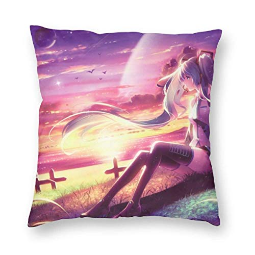 KDRW Hatsune Miku Sofa Print Pillowcases 22'x22'
