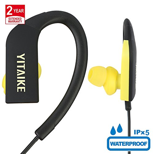 Bluetooth Headphones Best Wireless Sports Earphones w/Mic Waterproof HD Stereo for Gym Running Workout 8 Hour Battery Noise Cancelling Headsets