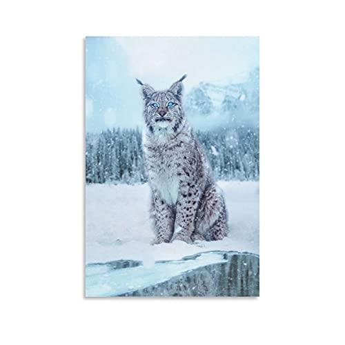 GIUU Lynx Poster dekorative Malerei Leinwand Wandkunst Wohnzimmer Poster Schlafzimmer Malerei 20x30inch(50x75cm)