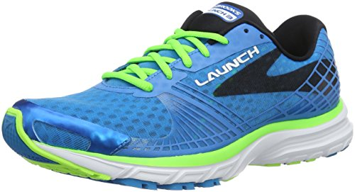 Brooks Herren Launch 3 Laufschuhe, Blau (blau/grün), 41 EU