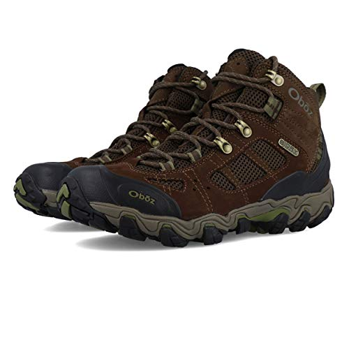 Oboz Bridger Vent Mid B-Dry Hiking Boot - Men's Slate Brown/Mayfly Green 12