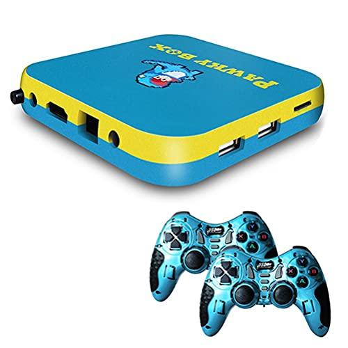 Console de Jeux Vidéo Rétro Sans fil, console de jeu portable retro, Retro Game Consoleplus de 41 000 jeux intégrés, émulateurs pour sortie TV HD AV 4K, avec deux manettes de jeu sans fil 2.4G