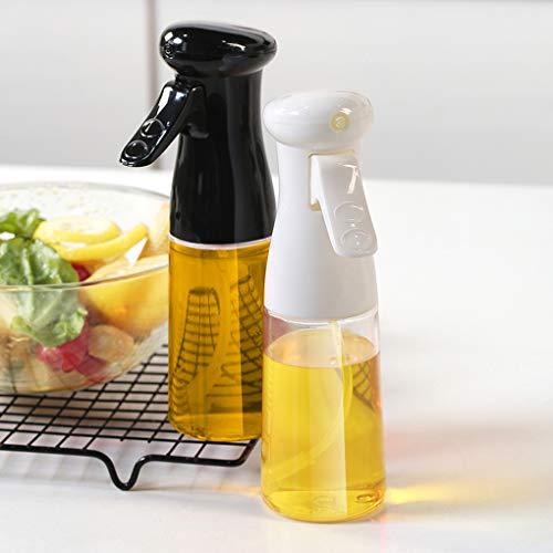 Komake 2 Piezas Dispensador Pulverizador de Aceite, Rociador de Aceite Comestible de Aceite de Oliva de 210 ml, Rociador de Vinagre Para Ensalada de Barbacoa