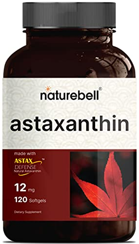Maximum Strength Astaxanthin Softgel Supplements, 12mg Astaxanthin Per Serving, 120 Softgels, 4 Month Supply, Strongly Promotes Skin & Joint Health, Hear Function and Immune Support, Non-GMO