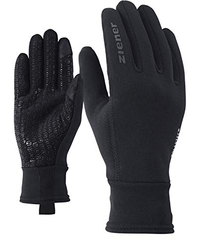 Ziener IDIWOOL Glove Multisport, Guanti per Il Tempo Libero, Funzionali, per attività all'aperto, Traspiranti, Touch, Lana Uomo, Nero, 7