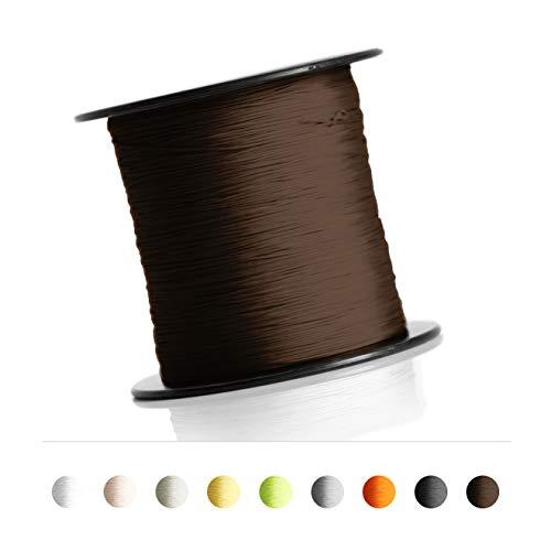Koord voor plissés, rolgordijn, jaloezie 0,8 mm spankoord plissé koord accessoires 100 meter bruin