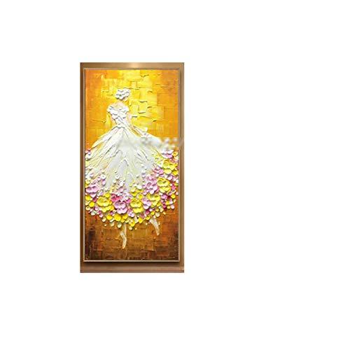 Small Lake Balletttänzer Bild Handgemalt Abstrakt Palette Messer Ölgemälde Auf Leinwand Wandkunst Für Wohnzimmer Wohnkultur-MT161559-70x110cm Ungerahmt
