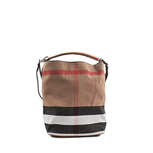 Burberry Women's Medium Ashby in Canvas Check and Leather Brown