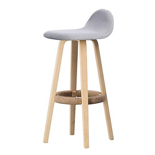 Ali@ Solide Bois Salle à Manger Chaise Chaise Moderne Linge Pédale Design Bois Style Chaise pour Bureau Salon Salle À Manger Cuisine (Couleur : 2, taille : 33cmX33cmX69.5cm)