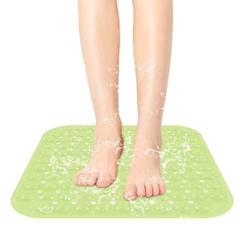 SIHOHAN Duschmatte, 47x47cm rutschfest Duscheinlage antibakterielle Badematte, Dusche Antirutschmatte mit Saugnäpfen, maschinenwaschbar Badewannenmatte (Grün)