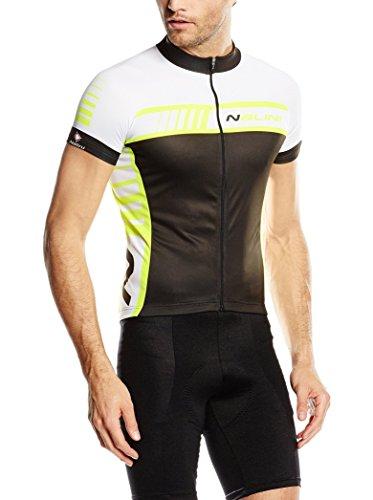 Nalini Maillot Ciclismo Tescio Negro/Amarillo Flúor L