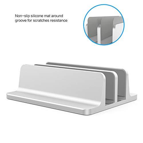 Omoton verticale Portatile Stand, regolabile MACBOOK STAND aggiornato doppia Spac.