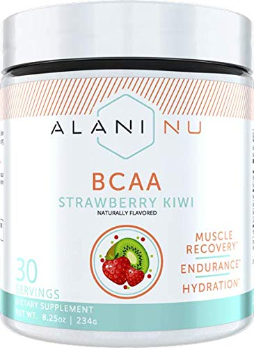 Alani Nu BCAA Branched Chain Essential Amino Acids, Muscle Recovery Vitamins for Post-Workout and Hydration, Strawberry Kiwi, 30 Servings