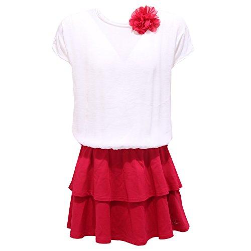0876S vestito bimba LIU JO JUNIOR abito fuxia/bianco dress kid [14 YEARS]