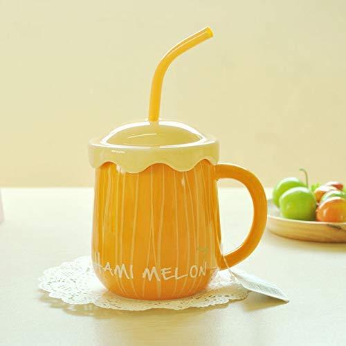 XJYJF Taza de fruta para pareja, taza de café, de cerámica, hecha a mano, de gran capacidad, tazas de café de cerámica, de hueso, de China, Canecas, estilo 3500 ml, cerámica (color: estilo 3)