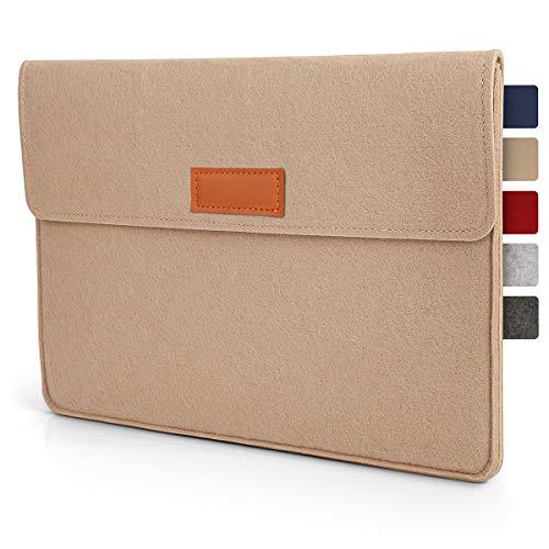 Tablet Tasche Hülle 10.1 - 11 Zoll aus Filz I für Geräte bis zu 28,5 x 19,5cm I Universal für iPad, Samsung, Huawei I iPad Sleeve und Tablet Schutzhülle, Beige