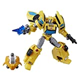 Transformers Toys Cyberverse Deluxe Class Bumblebee Action Figure, Sting Shot Attack Move and Build-A-Figure Piece, for Kids Ages 6 and Up, 5-inch