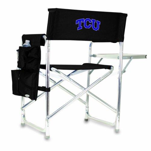 NCAA Texas Christian Horned Frogs Tragbarer Klappstuhl Sportstuhl (schwarz)