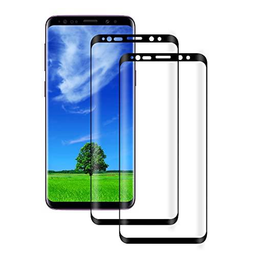 WISMURHI Panzerglas für Samsung Galaxy S9, [2 Stück] Schutzfolie für Samsung Galaxy S9 - Anti-Kratzer, Anti-Öl, Anti-Bläschen, HD Displayschutzfolie für Samsung Galaxy S9