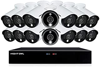 Night Owl CCTV Video Home Security Camera System with 14 Wired 5MP HD Indoor/Outdoor Cameras with Night Vision (Expandable up to a Total of 16 Wired Cameras) and 2TB Hard Drive