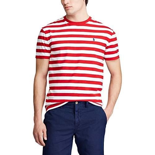 Polo Ralph Lauren Maglietta a righe rosse da uomo rosso L