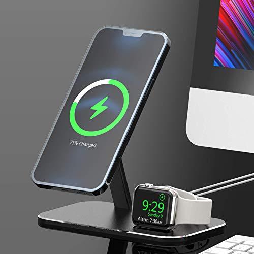 Adecuado para Apple iPhone12 iWatch soporte MagSafe de carga inalámbrica magnética tres en uno