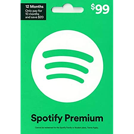 Spotify Annual Gift Card $99