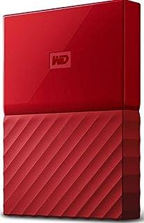 western DIGITAL 2?TB MY Passport GB 黑色移动硬盘?–?红色