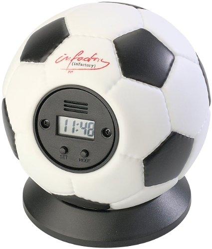 infactory Wecker: Wurfwecker Fußball (Wecker Ball)