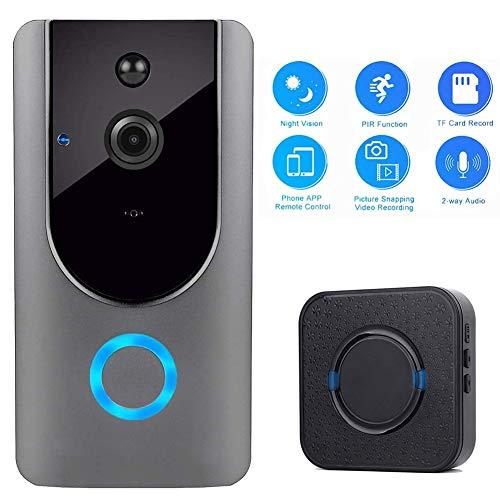 Video Doorbell deurintercom WLAN, 720p HD deurbel draadloos waterdicht met camera en intercominstallatie, bewegingsmelder, nachtzichtmodus