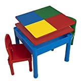 Play Platoon Kids Activity Table Set - 5 in 1 Water Table, Building...