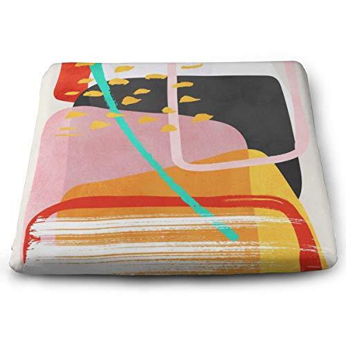 Mojo Solid Square Kissen, Sitzkissen Stuhlkissen Tatami Bodenkissen für Yoga Meditation Wohnzimmer Balkon Büro Outdoor, 38,1 x 34,8 cm