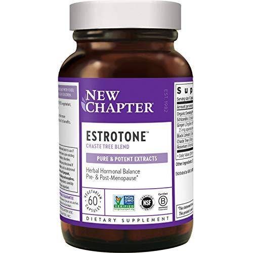 New Chapter Menopause Supplement Estrotone with Evening Primrose Oil + Black Cohosh for Hormone Health Vegetarian Capsule, 60 Count