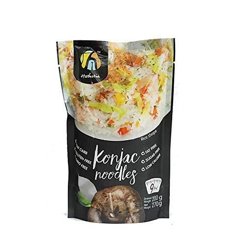 Hethstia Shirataki Konjac Rice- Pasta Alternative, Zero Carbs/Calories, Gluten/Soy Free, Keto/Vegan Friendly (9)