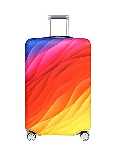 Kofferhülle Elastisch 18-32Zoll Kofferschutzhülle Gepäck Cover Reisekoffer Hülle Kofferschutz Luggage Cover Gepäckabdeckung Kofferschutzhülle mit Reißveschluss (Symphonischer Treibsand, L)