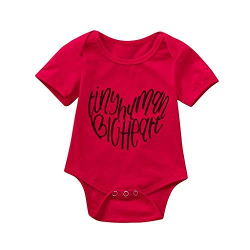 ProperLI Combi-Short pour Nouveau-né bébé Fille-garçon, Combinaison Mignon Imprimer vêtements Barboteuse (0M-18M)