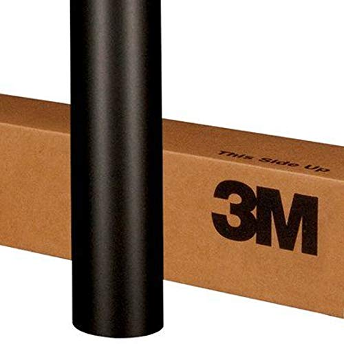 3M 1080 M12 MATTE BLACK 5ft x 1ft (5 Sq/ft) Car Wrap Vinyl Film