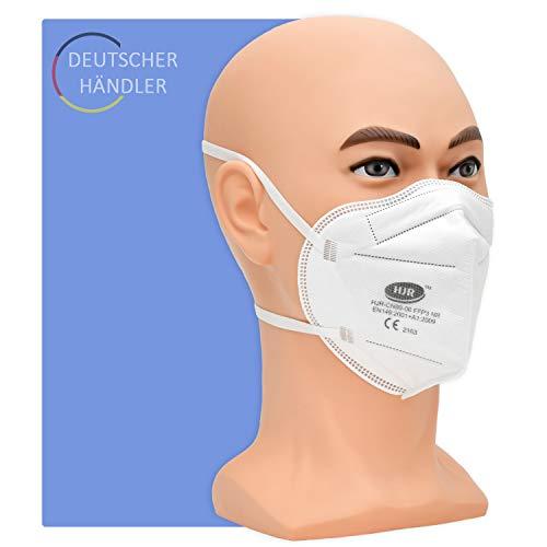 Partikelfilter Maske Typ FFP 3 NR - 10 Stück pro Packung - 5-lagige Atemschutzmaske gegen Staub, Rauch und festen und flüssigen Aerosolen