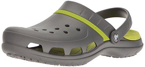 Crocs Unisex-Erwachsene MODI Sport Clogs, Grau (Graphite/Volt Green), 37/38 EU
