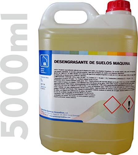 Fregasuelos Desengrasante IQG (5 litros). Espuma Controlada. Producto especialmente indicado para la limpieza de suelos con máquinas fregadoras automáticas donde se requiera un limpieza profunda.
