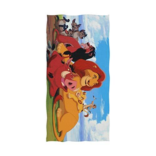 Lfff Toalla de baño Toalla de Playa,Dibujos Animados el Rey león Toalla de Playa 80x130cm