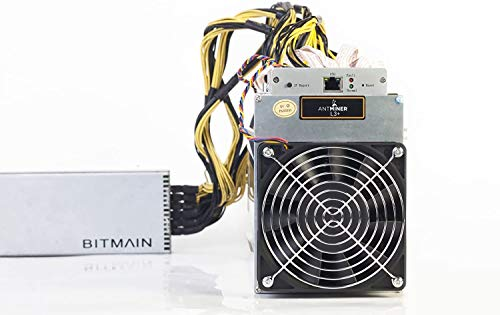 AntMiner L3+ ~504MH/s @ 1.6W/MH ASIC Litecoin Miner With Power Supply...
