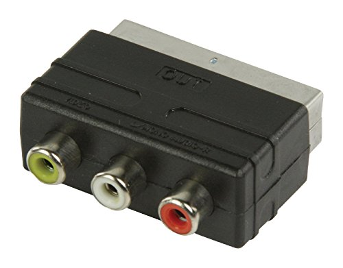 Valueline VLVP31901B Adaptador de Cable SCART 3 x RCA Negro - Adaptador para Cable (SCART, 3 x RCA, Male Connector/Female Connector, Negro)