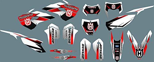 DST1037 Adhesivos personalizados Pegatinas Gráficos para HUSQVARNA TC FC TE FC 125cc-300cc 2014 2015 3M pegamento dirt bike pegatina para Husqvarna TC FC TE FE 125 250 300 350 450 501 2014 2015