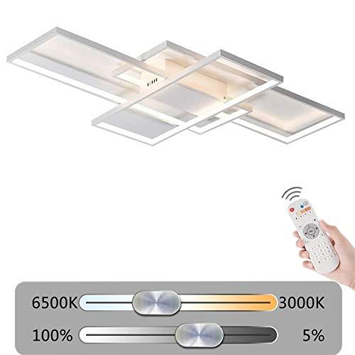 LED 40 W dimbare plafondlamp, vierkant, creatieve vorm, moderne vorm, metaal, acryl, plafondlamp, verlichting voor slaapkamer, woonkamer, keuken, eettafel, plafondlamp, 220 V