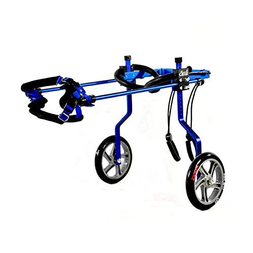 Silla de ruedas para mascotas, silla de ruedas para perros para perros grandes, animales discapacitados, extremidades anteriores, extremidades traseras, carro eléctrico, 2 ruedas, silla de rueda