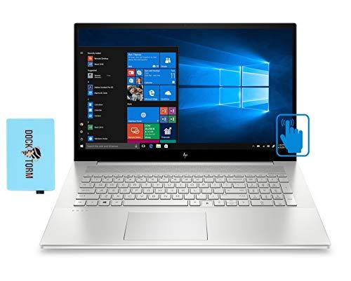 "HP Envy - 17t-cg100 Home and Business Laptop (Intel i7-1165G7 4-Core, 16GB RAM, 1TB SSD, MX450, 17.3"" Touch Full HD (1920x1080), Fingerprint, WiFi, Bluetooth, Webcam, Win 10 Pro) with Hub"